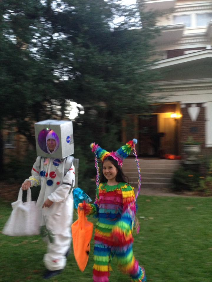 Kids trick or treating in Heritage Hills Oklahoma City