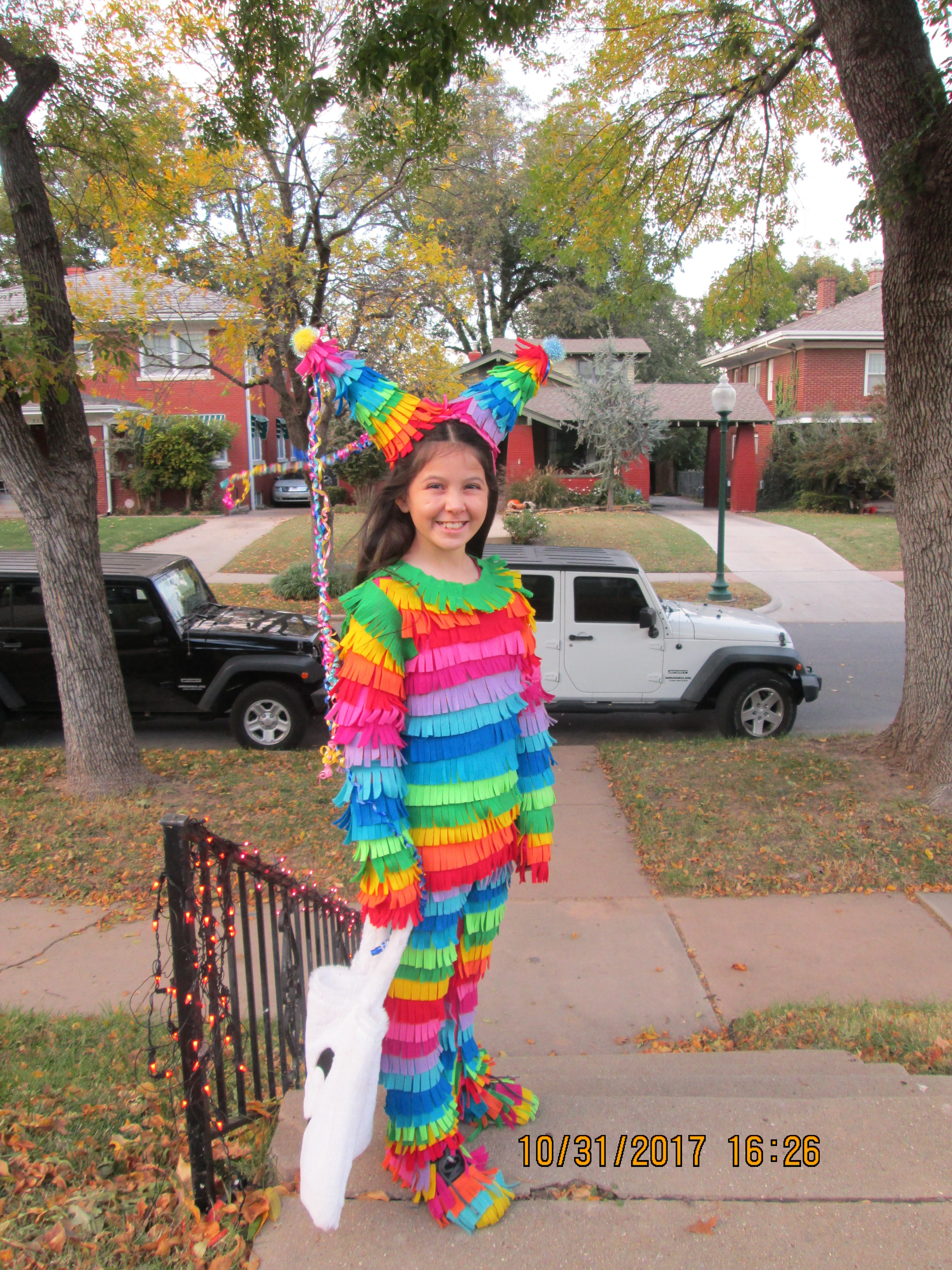 How to make a pinata costume