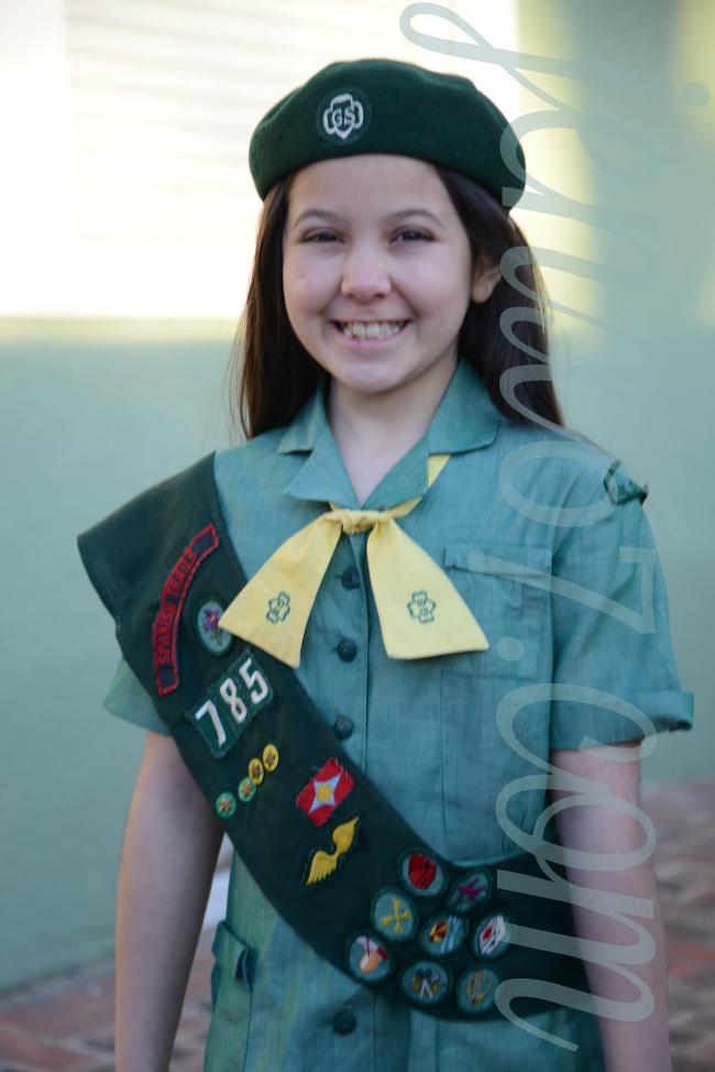 vintage 1960s girl scout uniform