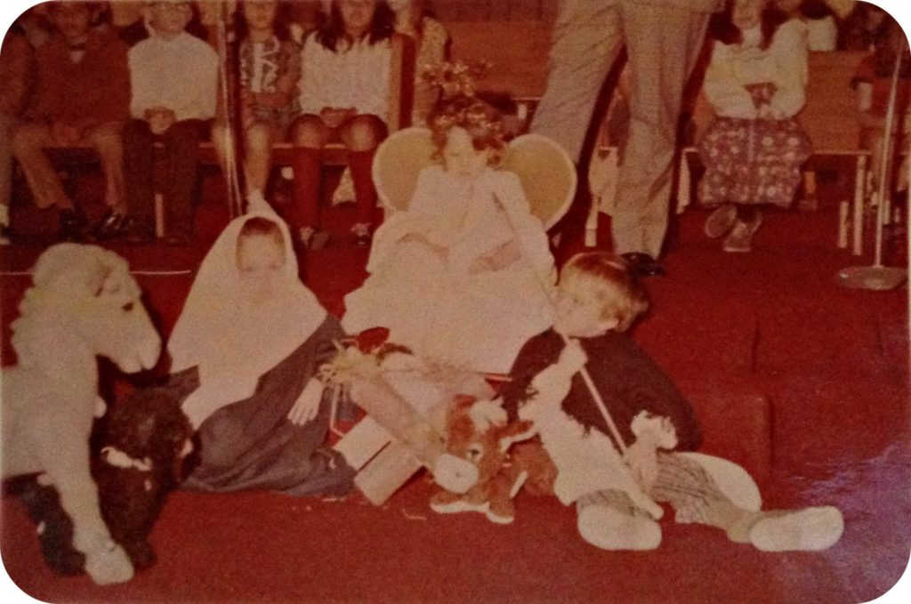 Playing Mary in Church Christmas Pageant, Hacienda Heights Church of the Nazarene, Christmas 1971