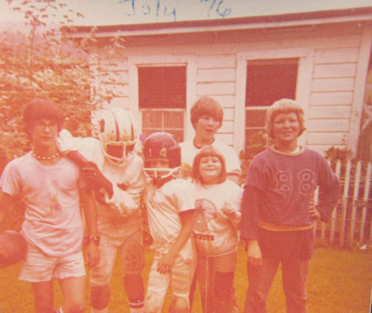 Days of Hope or Despair: White Gen X Boys playing football 1970s