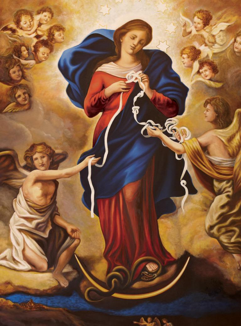 Original Painting Mary Undoer of Knots