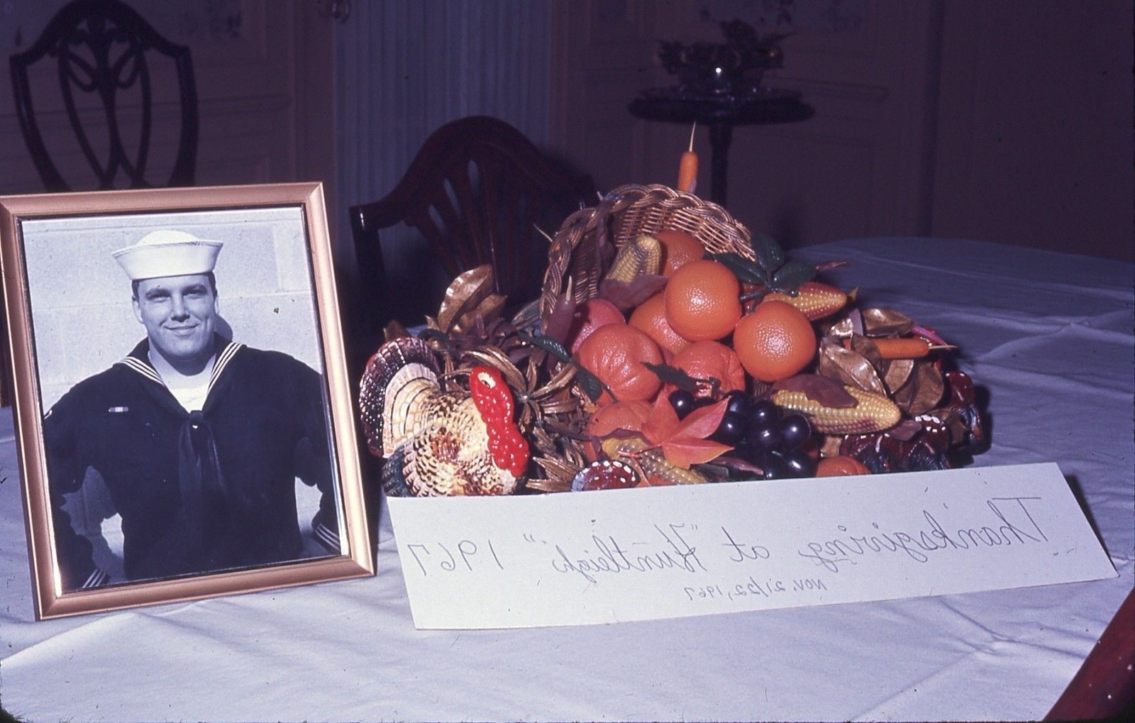 "Thanksgiving 1967: Family Sets A Place For ""Our Sailor Boy Billy"""