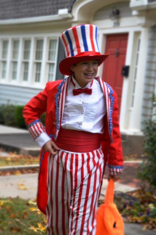 Boy as Uncle Sam