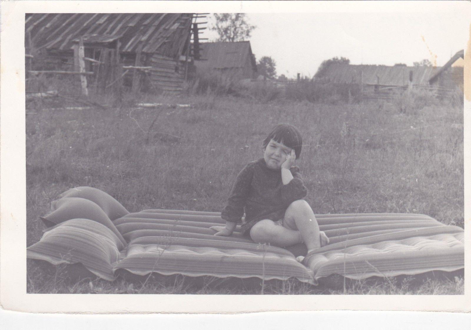 soviet russian 1975 little girl on air mattress