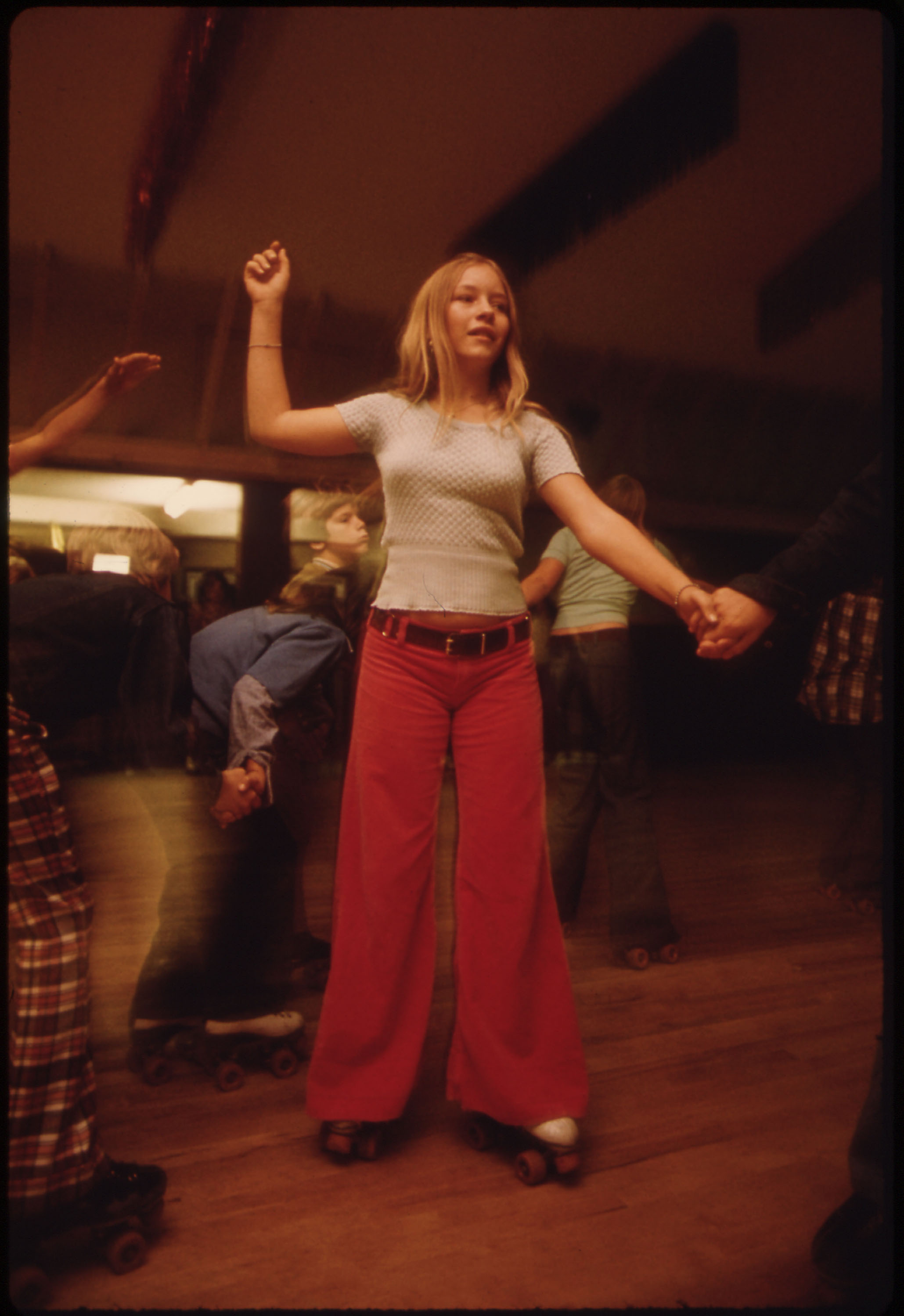 Young Boomer or Older Gen-Xer at a roller rink in 1975