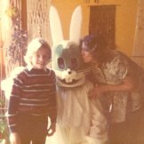 Easter Bunny with Blue Face, 1976