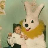 Fancy collar, Easter Bunny. The year was 1981.