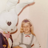 Tracy with the Easter Bunny, 1972