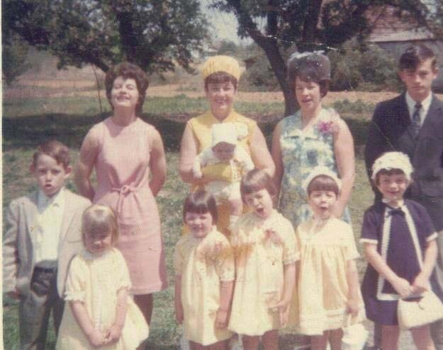 Moms and Children on Easter Sunday 1968