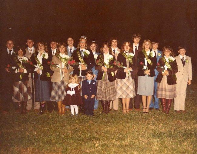 Football Homecoming Court 1982