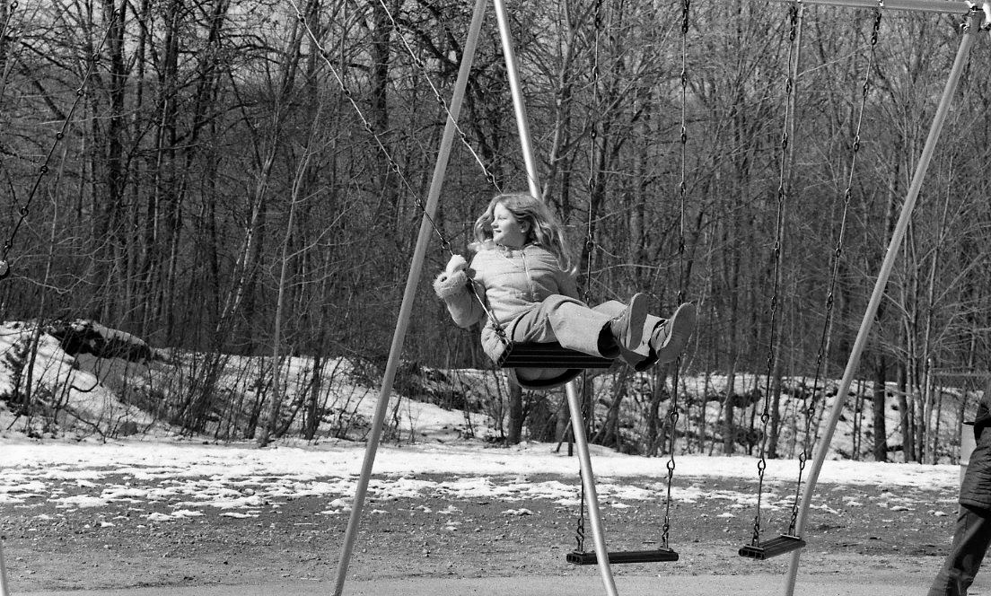 Metal A Frame Playground Swings
