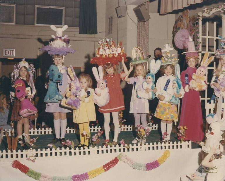 Easter Hat Contest and Parade 1970 Davenport Iowa