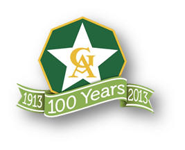 Girls in Action 100th Anniversary Logo