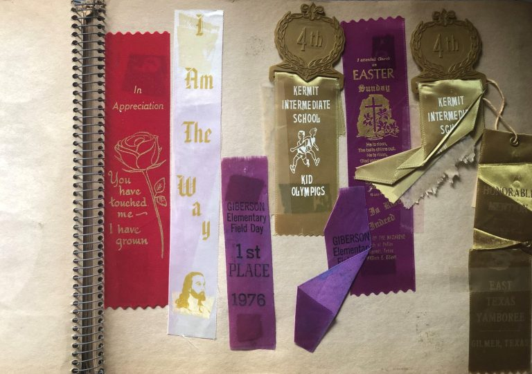1980s Scrapbook with 1970s Field Day Ribbons