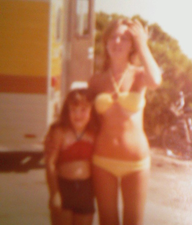Girl a Yellow Bikini mid 1970s