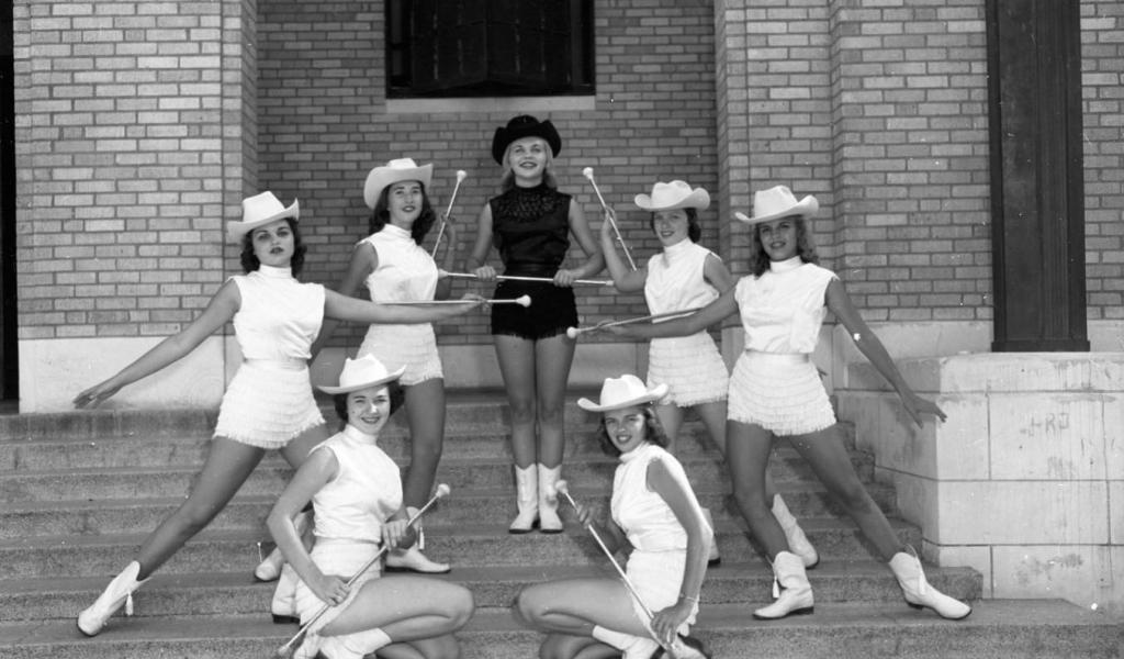 Texas Band Majorettes from the 1950s