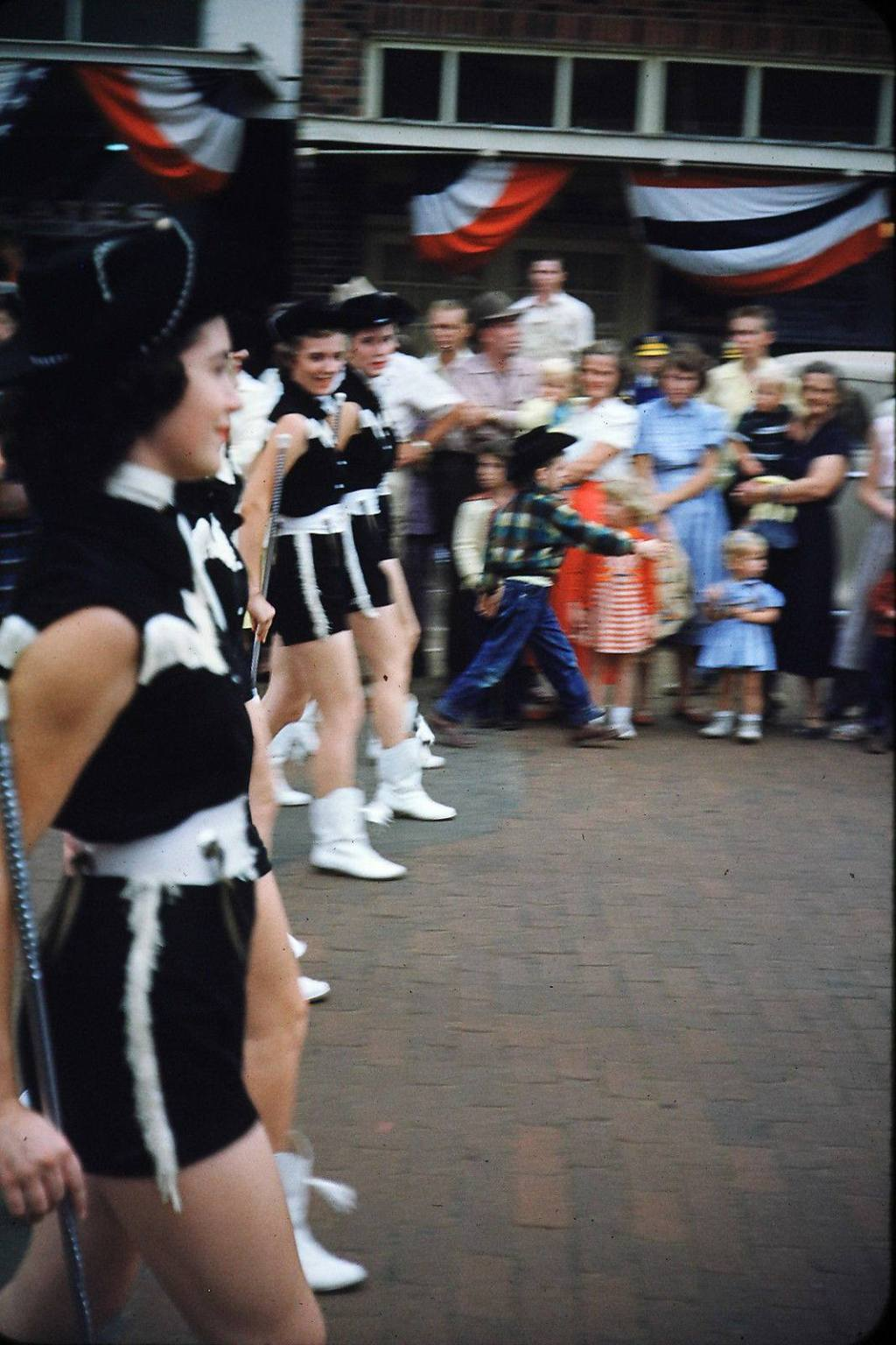 Gorgeous Majorette Line - Gilmer, Texas, 1950s
