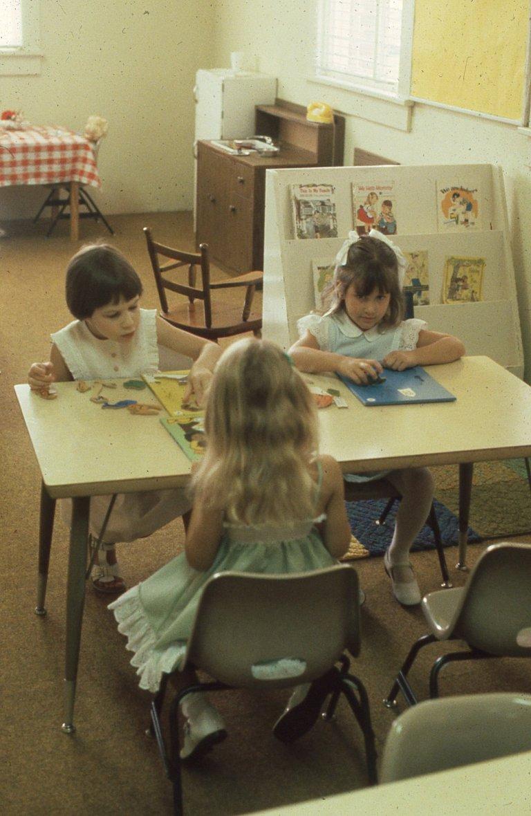 Girls in Sunday School 1981