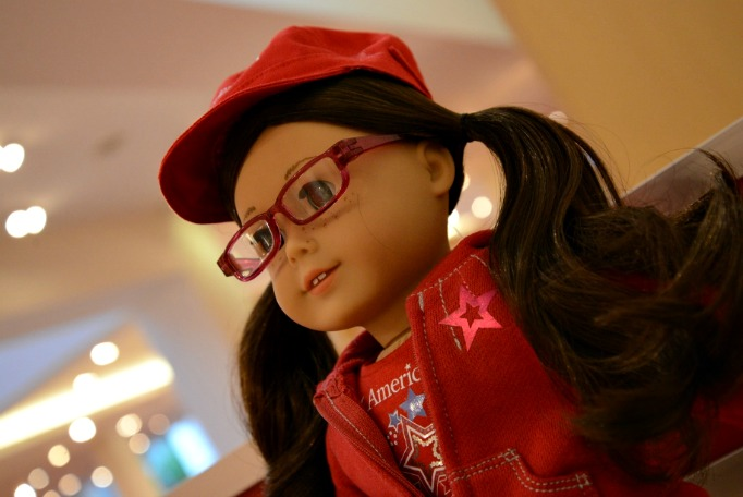 American Girl with Glasses