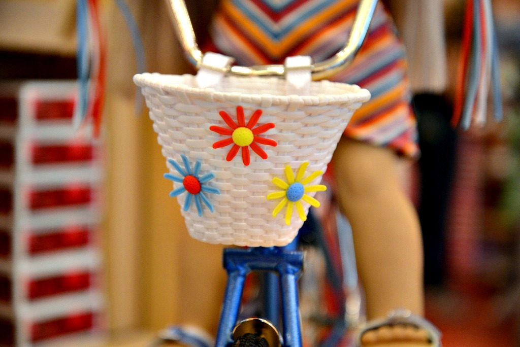 Bicycle with Flower, Basket Julie Albright, American Girl
