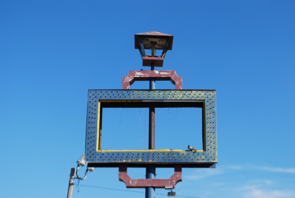 Old Sign with Bulbs