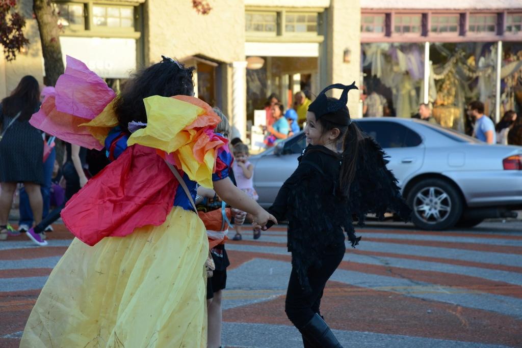 Girls dancing in the street Magic Lantern