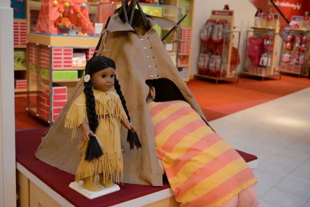 Kaya and Teepee American Girl Store