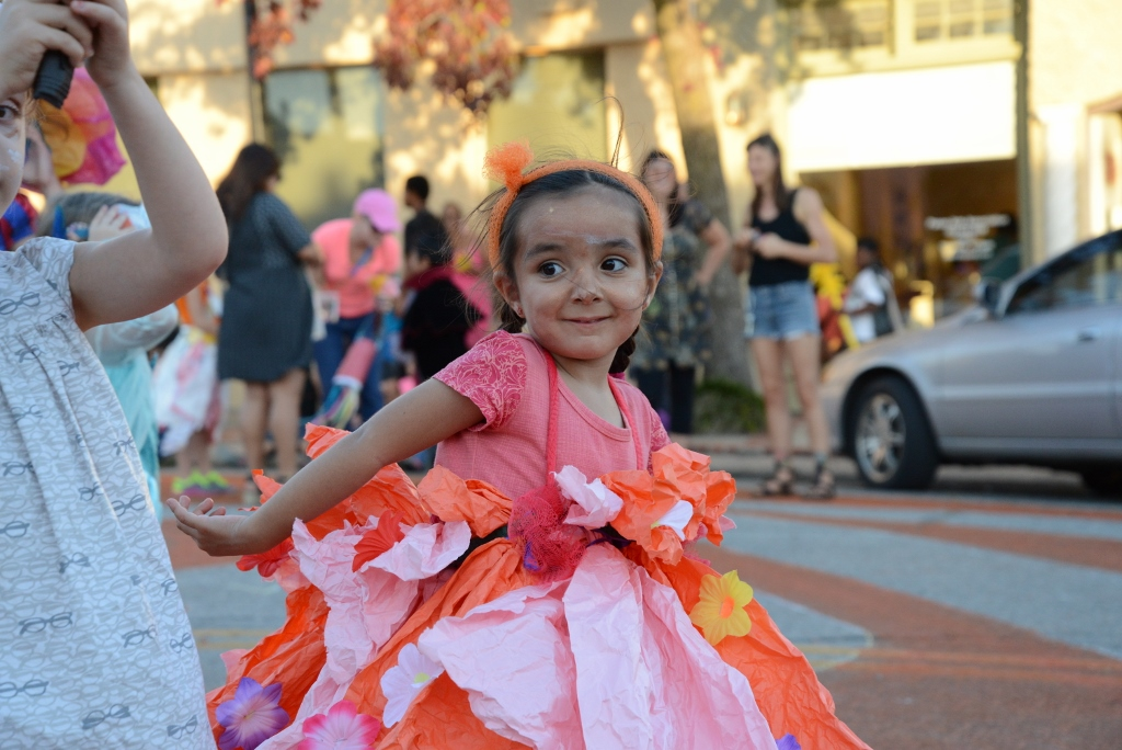 Little Girl in a paper dress