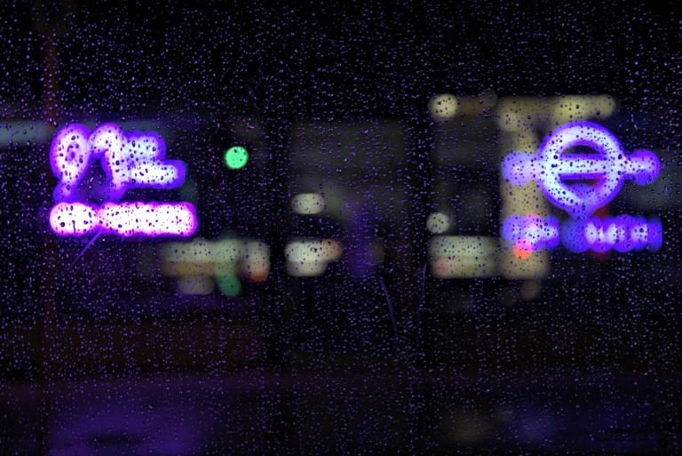 Purple Rain Purple Neon Lights