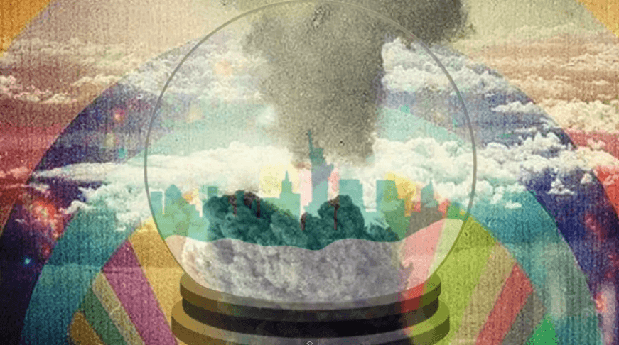 Rainbow Mushroom Cloud Statue of Liberty