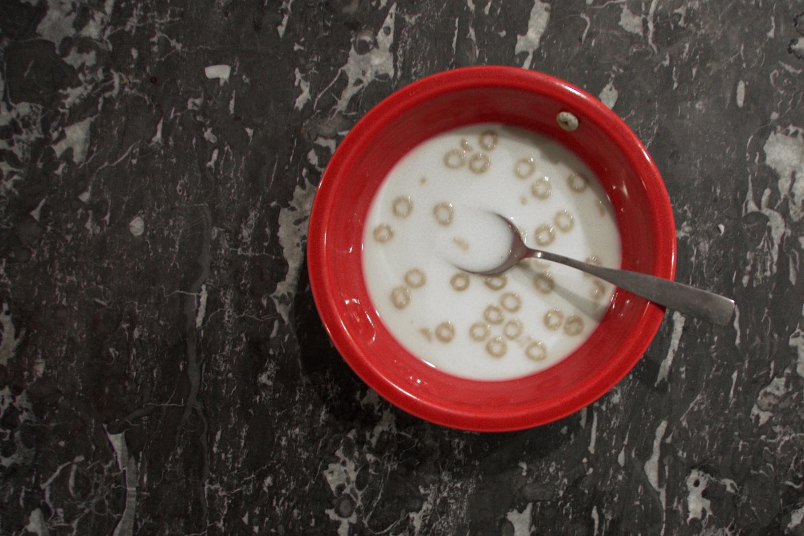 Red Bowl Cheerios Fiestaware