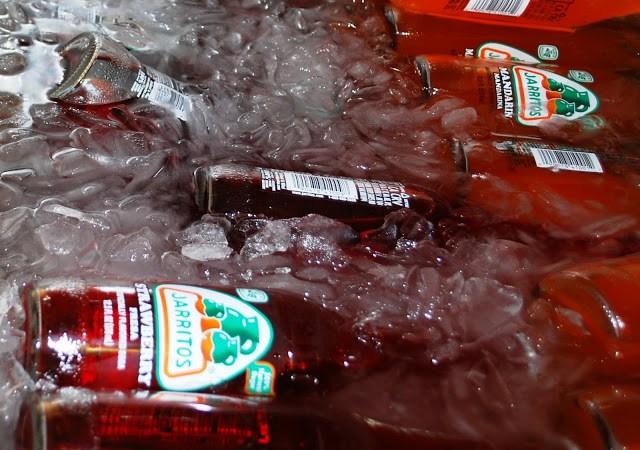 Jarritos Mexican Sodas on ice