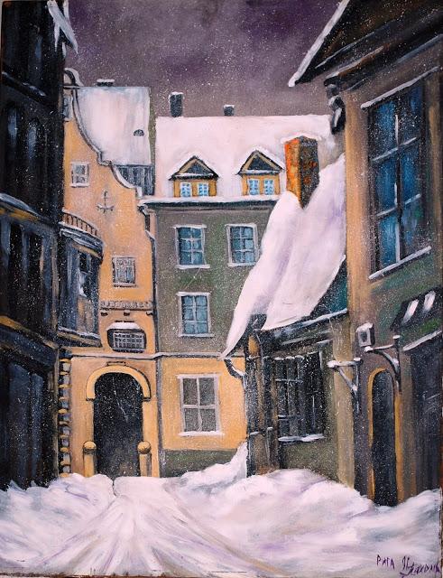 Riga, Latvia Painting