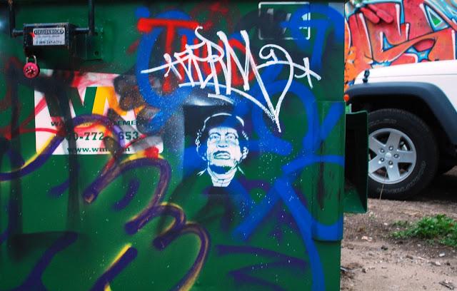 Gaddafi Graffiti Stencil, Oklahoma City