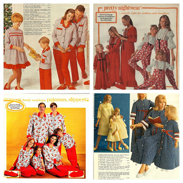 Matching Pajamas from the 1970s