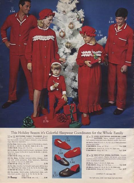 Matching Pajamas Christmas Catalog 1966
