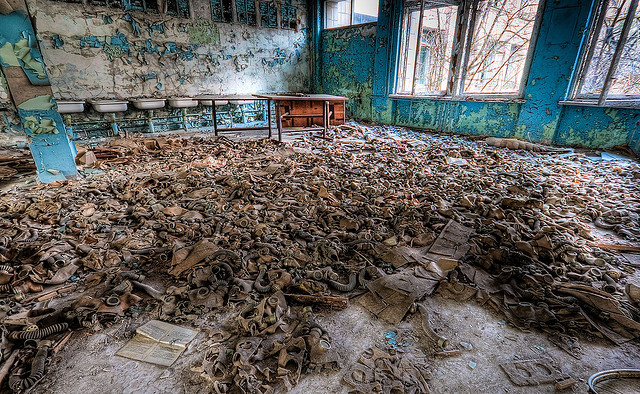 Chernobyl Photos: Gas masks in the Chernobyl Exclusion Zone