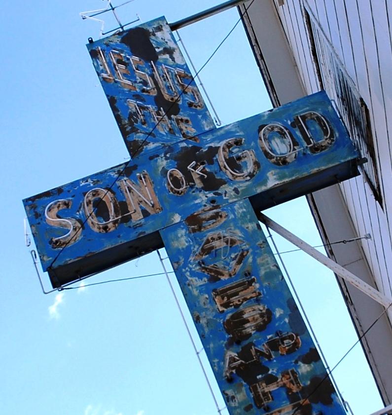 Jesus, Retro Church Sign