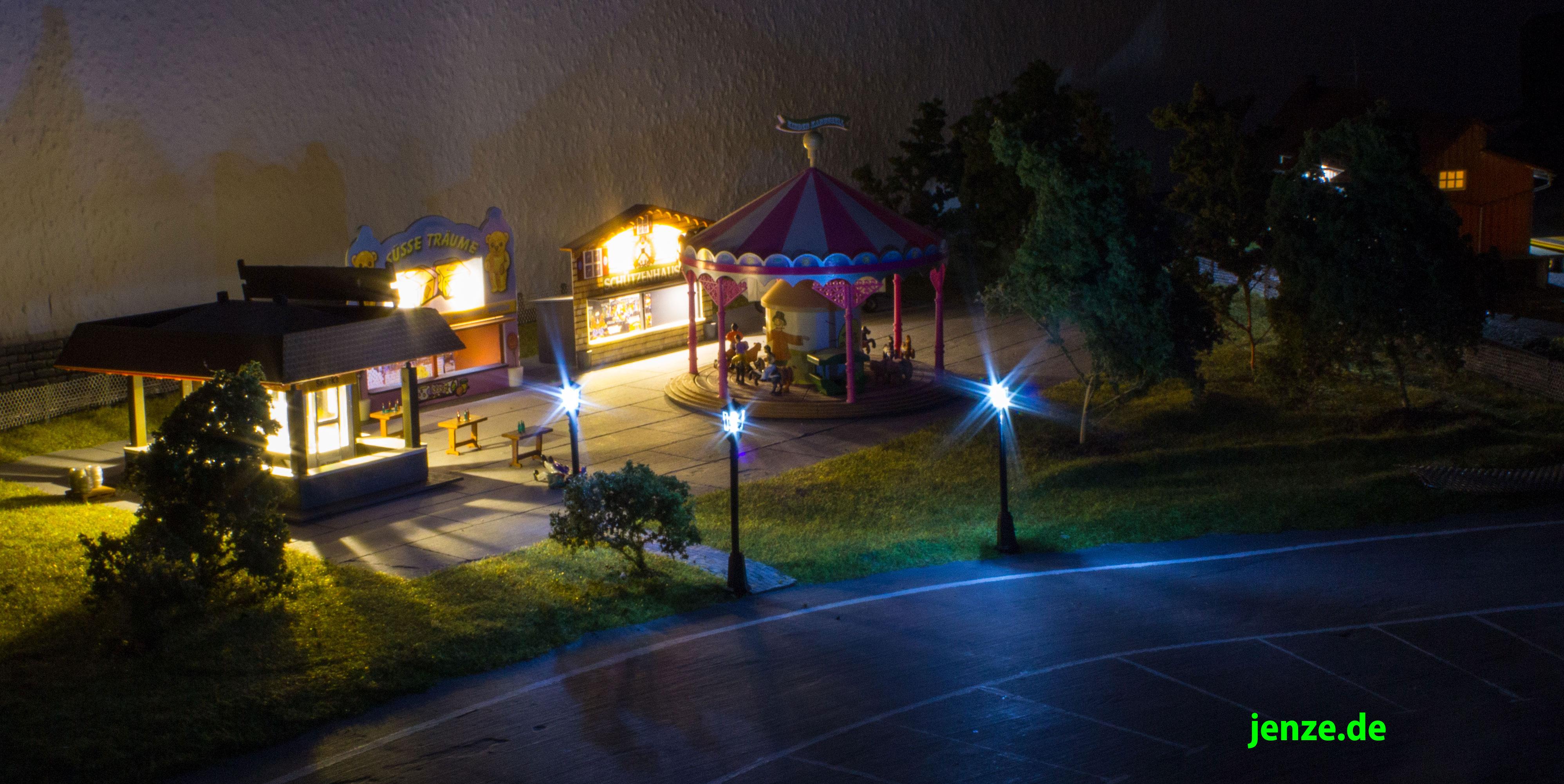 Parklampen für die Modelleisenbahn