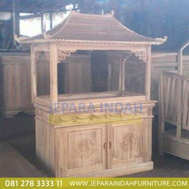 Info Jual Lemari Aquarium Jati Ukir Bunga 2 Pintu (HDF LAQ 001 2D)