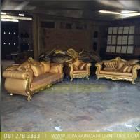 Jual Sofa Tamu Set Mewah Aisya Ukiran Jepara