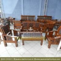 Harga Jual Set Kursi Tamu Jati Kawung