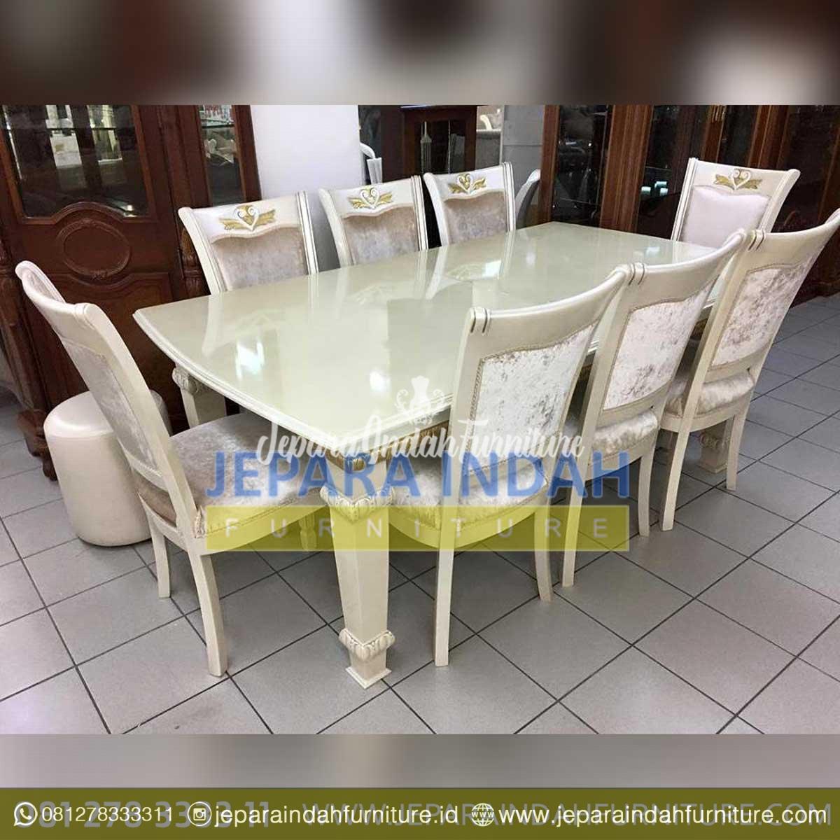 Set Meja Makan Mewah 8 Kursi Eksklusif Mewah By Jepara Indah Furniture
