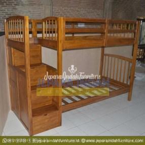 Pusat Jual Tempat Tidur Tingkat Jati Minimalis (CRF TTT 014)