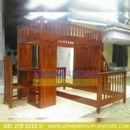 Toko Jual Ranjang Kamar Tingkat Jati Minimalis (CRF TTT 017)