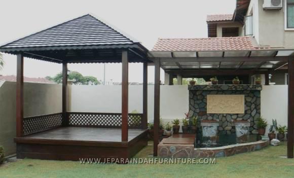 Gazebo Besar Minimalis Untuk Taman Rumah