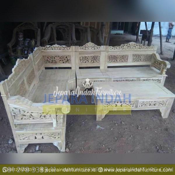 LRF KTS 012 Kursi Tamu Sudut Ukir Jepara Cantik