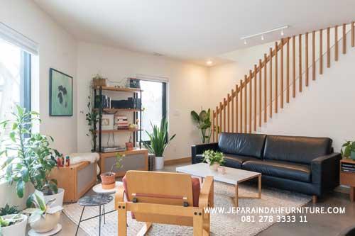 Furniture Jati Jepara Untuk Ruang Keluarga Konsep Minimalis