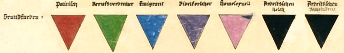 marquage nazi triangle